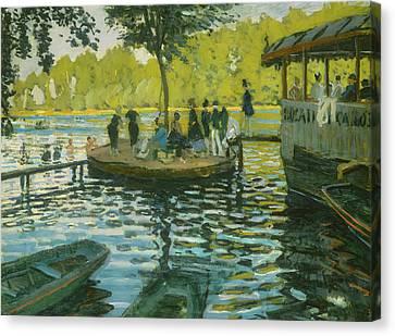 La Grenouillere Canvas Print by Claude Monet