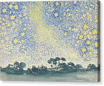Landscape With Stars Canvas Print by Henri Edmond Cross