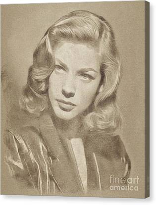 Lauren Bacall Vintage Hollywood Actress Canvas Print
