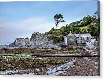 Cliff Lee Canvas Print - Lee Bay - England by Joana Kruse