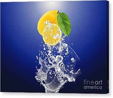 Lemon Splast Canvas Print by Marvin Blaine