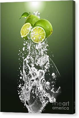 Lime Splash Canvas Print by Marvin Blaine