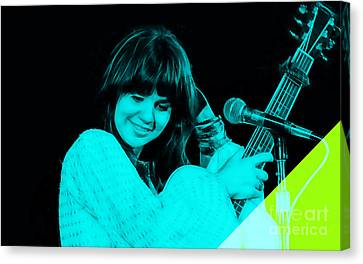 Linda Ronstadt Collection Canvas Print by Marvin Blaine