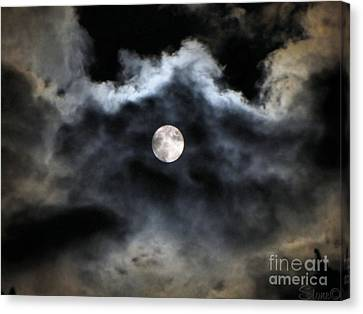Lisas Wildlife Moons 2 Canvas Print by September  Stone