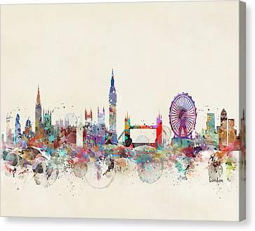 London Eye Canvas Print - London City Skyline by Bleu Bri