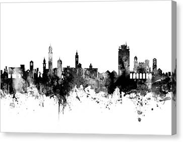 Switzerland Canvas Print - Lugano Switzerland Skyline by Michael Tompsett