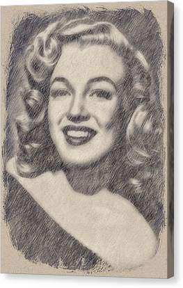 Marilyn Monroe By John Springfield Canvas Print by John Springfield