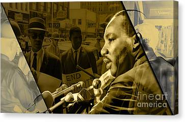 Martin Luther King Jr Canvas Print - Martin Luther King Collection by Marvin Blaine
