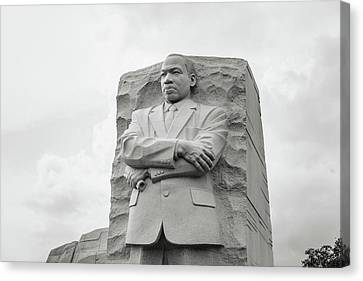 Martin Luther King Jr Statue Canvas Print by Brandon Bourdages