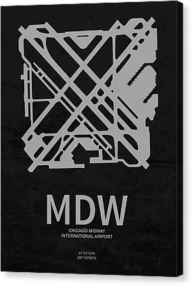 Mdw Chicago Midway International Airport In Chicago Illinois Usa Canvas Print