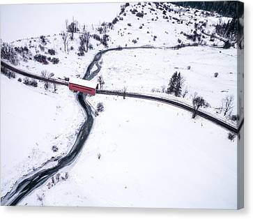 Meech Creek Covered Bridge Canvas Print by Rob Huntley