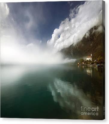 Misty Morning Canvas Print by Angel Ciesniarska