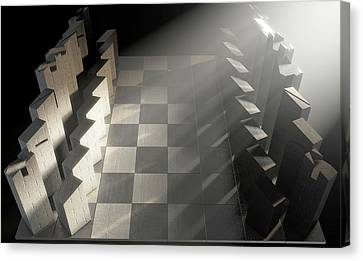 Modern Chess Set  Canvas Print