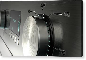 Screen Doors Canvas Print - Modern Washing Machine Closeups by Allan Swart