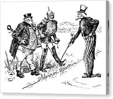 Monroe Doctrine Cartoon Canvas Print by Granger