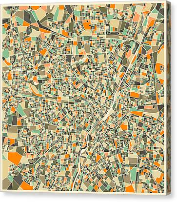 Munich Map Canvas Print by Jazzberry Blue