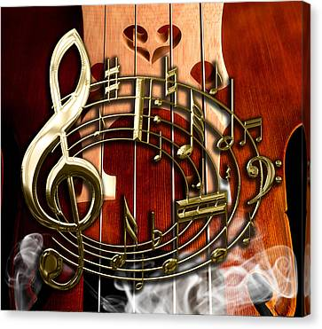 Musical Collection Canvas Print