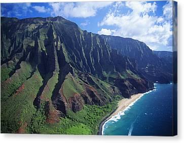 Na Pali Coast Aerial Canvas Print by Bob Abraham - Printscapes