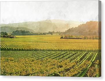 Merlot Canvas Print - Napa Valley California In Autumn by Brandon Bourdages