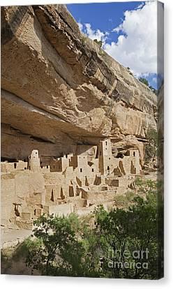 Native American Cliff Dwellings Canvas Print by Bryan Mullennix
