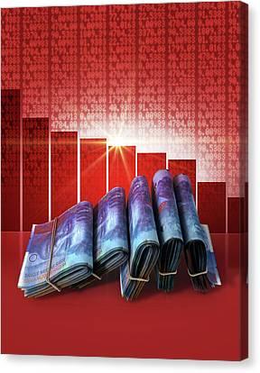 Negative Market Money Canvas Print by Allan Swart