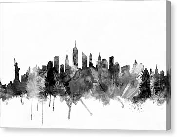 New York City Skyline Canvas Print by Michael Tompsett