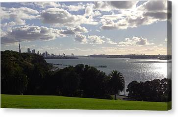 New Zealand - Insight Into Auckland's Waitemata Harbour Canvas Print by Jeffrey Shaw