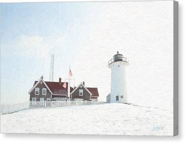 Nobska Light House Canvas Print by Michael Petrizzo