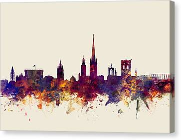 Norwich England Skyline Canvas Print by Michael Tompsett