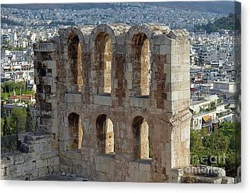 Odeon Of Herodes Atticus Canvas Print by George Atsametakis
