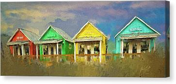 Canvas Print featuring the digital art 4 Of A Kind by Dale Stillman