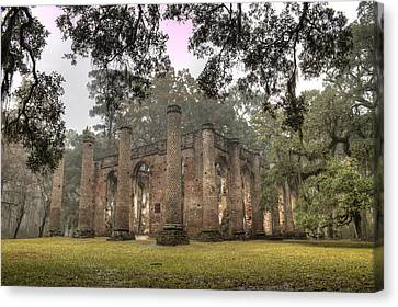 Old Sheldon Church Ruins Canvas Print