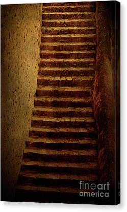 Old Stairs Canvas Print by Mythja Photography