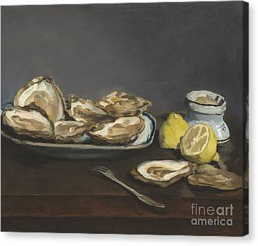 Oysters Canvas Print by Edouard Manet