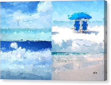 4 Panel Abstract Beach 2 Canvas Print