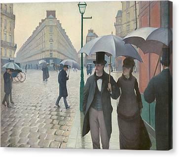 Paris Street, Rainy Day Canvas Print