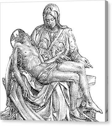 New Testament Canvas Print - Pieta by Michelangelo