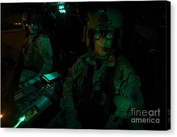 Pilots Equipped With Night Vision Canvas Print