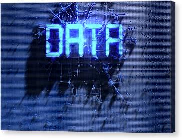 Pixel Data Concept Canvas Print by Allan Swart