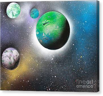 4 Planets Canvas Print by Greg Moores