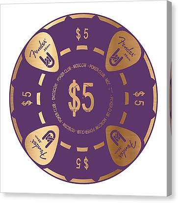 Poker Chip Canvas Print by Francois Domain