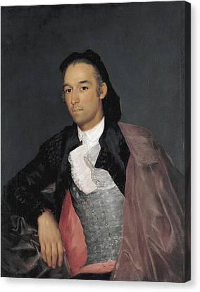 Public Holiday Canvas Print - Portrait Of The Matador Pedro Romero by Francisco Goya