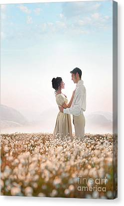 Canvas Print featuring the photograph Regency Couple by Lee Avison