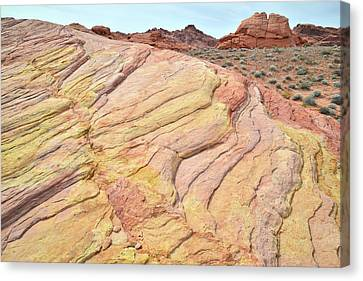 Canvas Print featuring the photograph Ripples Of Color In Valley Of Fire by Ray Mathis