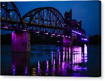 Rock Island Bridge Arkinsas Canvas Print by Chris Smith