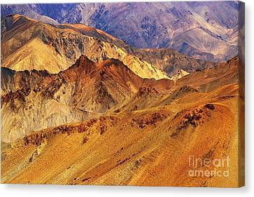 India Canvas Print - Rocks And Stones Mountains Ladakh Landscape Leh Jammu Kashmir India by Rudra Narayan  Mitra