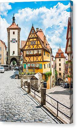 Rothenburg Ob Der Tauber Canvas Print by JR Photography