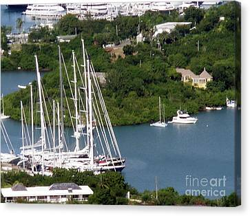 Canvas Print featuring the photograph Saint  Lucia by Gary Wonning
