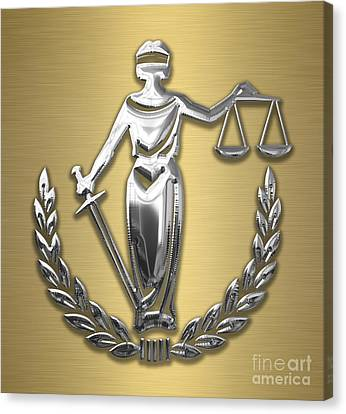 Scales Of Justice Collection Canvas Print by Marvin Blaine