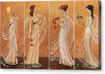 4 Seasons Canvas Print by Barbara Gerodimou